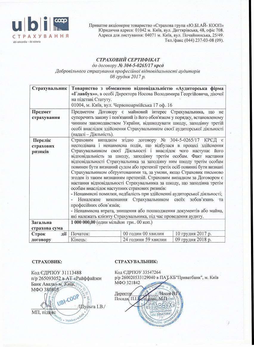Лицензии, сертфикаты - Аудиторская фирма «Главбух-аудит» №1